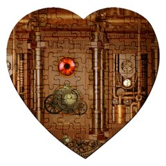 Steampunk Design Jigsaw Puzzle (heart)