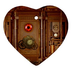 Steampunk Design Heart Ornament (two Sides)