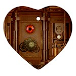 Steampunk Design Heart Ornament (Two Sides) Back