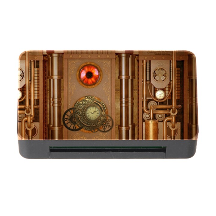 Steampunk Design Memory Card Reader with CF