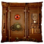 Steampunk Design Large Cushion Case (Two Sides) Front