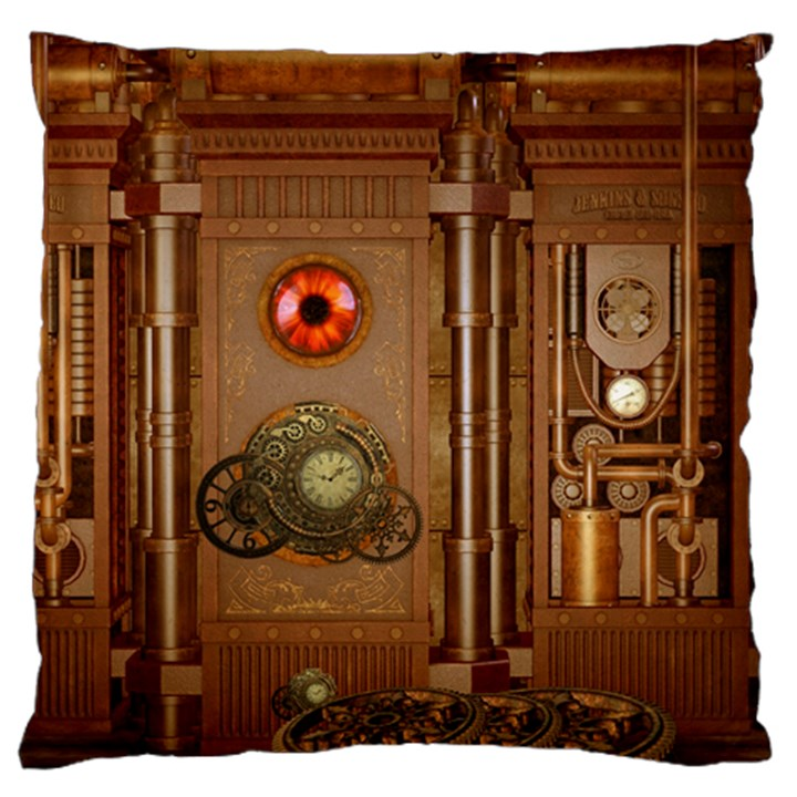 Steampunk Design Large Cushion Case (Two Sides)