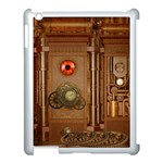 Steampunk Design Apple iPad 3/4 Case (White) Front