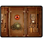 Steampunk Design Double Sided Fleece Blanket (Large)  80 x60  Blanket Front