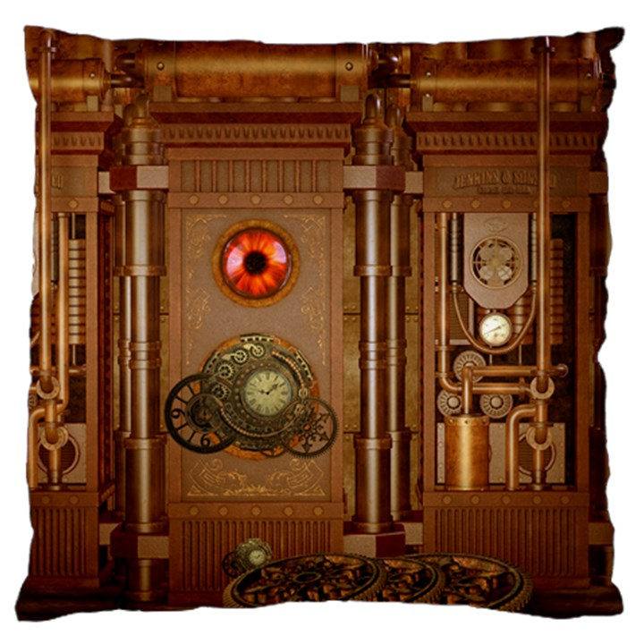 Steampunk Design Standard Flano Cushion Case (Two Sides)