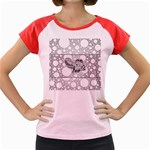 Elegant Mandala Elephant In Black And Wihte Women s Cap Sleeve T-Shirt Front