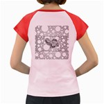 Elegant Mandala Elephant In Black And Wihte Women s Cap Sleeve T-Shirt Back