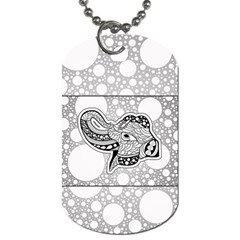 Elegant Mandala Elephant In Black And Wihte Dog Tag (two Sides)