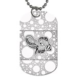 Elegant Mandala Elephant In Black And Wihte Dog Tag (Two Sides) Back