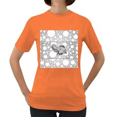 Elegant Mandala Elephant In Black And Wihte Women s Dark T-shirt