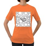 Elegant Mandala Elephant In Black And Wihte Women s Dark T-Shirt Front