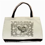 Elegant Mandala Elephant In Black And Wihte Basic Tote Bag (Two Sides) Front