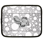 Elegant Mandala Elephant In Black And Wihte Netbook Case (Large) Front