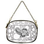 Elegant Mandala Elephant In Black And Wihte Chain Purse (One Side) Front