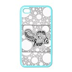 Elegant Mandala Elephant In Black And Wihte iPhone 4 Case (Color) Front