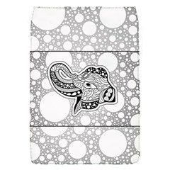 Elegant Mandala Elephant In Black And Wihte Removable Flap Cover (s)