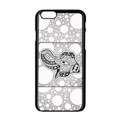 Elegant Mandala Elephant In Black And Wihte Iphone 6/6s Black Enamel Case
