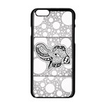 Elegant Mandala Elephant In Black And Wihte iPhone 6/6S Black Enamel Case Front