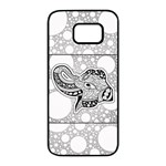 Elegant Mandala Elephant In Black And Wihte Samsung Galaxy S7 edge Black Seamless Case Front