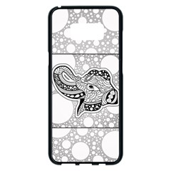 Elegant Mandala Elephant In Black And Wihte Samsung Galaxy S8 Plus Black Seamless Case by FantasyWorld7