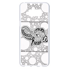 Elegant Mandala Elephant In Black And Wihte Samsung Galaxy S8 Plus White Seamless Case by FantasyWorld7
