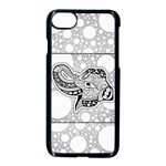 Elegant Mandala Elephant In Black And Wihte iPhone 8 Seamless Case (Black) Front