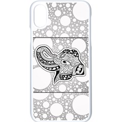Elegant Mandala Elephant In Black And Wihte Iphone X Seamless Case (white) by FantasyWorld7