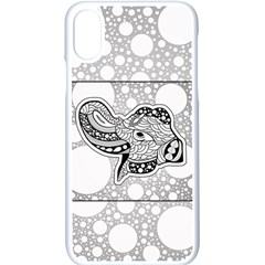Elegant Mandala Elephant In Black And Wihte Iphone Xs Seamless Case (white) by FantasyWorld7