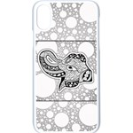 Elegant Mandala Elephant In Black And Wihte iPhone XS Seamless Case (White) Front