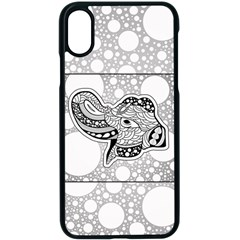 Elegant Mandala Elephant In Black And Wihte Iphone Xs Seamless Case (black) by FantasyWorld7