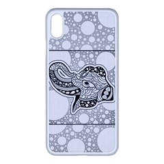 Elegant Mandala Elephant In Black And Wihte Iphone Xs Max Seamless Case (white) by FantasyWorld7