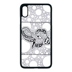 Elegant Mandala Elephant In Black And Wihte Iphone Xs Max Seamless Case (black) by FantasyWorld7
