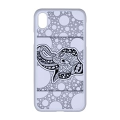 Elegant Mandala Elephant In Black And Wihte Iphone Xr Seamless Case (white) by FantasyWorld7