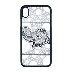 Elegant Mandala Elephant In Black And Wihte Iphone Xr Seamless Case (black) by FantasyWorld7