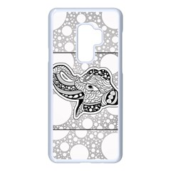 Elegant Mandala Elephant In Black And Wihte Samsung Galaxy S9 Plus Seamless Case(white) by FantasyWorld7