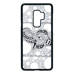 Elegant Mandala Elephant In Black And Wihte Samsung Galaxy S9 Plus Seamless Case(black) by FantasyWorld7