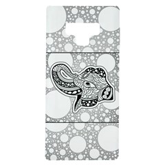 Elegant Mandala Elephant In Black And Wihte Samsung Galaxy Note 9 Tpu Uv Case by FantasyWorld7