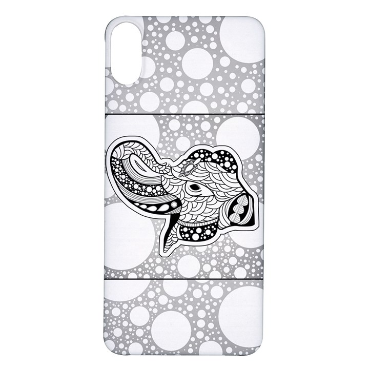 Elegant Mandala Elephant In Black And Wihte iPhone X/XS Soft Bumper UV Case