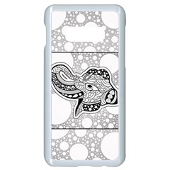 Elegant Mandala Elephant In Black And Wihte Samsung Galaxy S10e Seamless Case (white) by FantasyWorld7