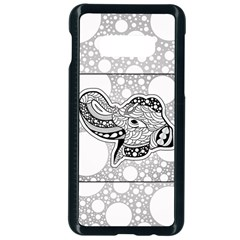 Elegant Mandala Elephant In Black And Wihte Samsung Galaxy S10e Seamless Case (black) by FantasyWorld7