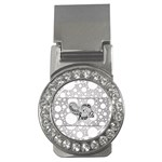 Elegant Mandala Elephant In Black And Wihte Money Clips (CZ)  Front