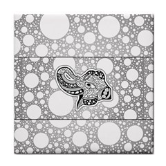 Elegant Mandala Elephant In Black And Wihte Face Towel