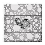 Elegant Mandala Elephant In Black And Wihte Face Towel Front