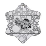 Elegant Mandala Elephant In Black And Wihte Ornament (Snowflake) Front