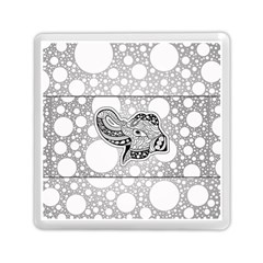 Elegant Mandala Elephant In Black And Wihte Memory Card Reader (square) by FantasyWorld7