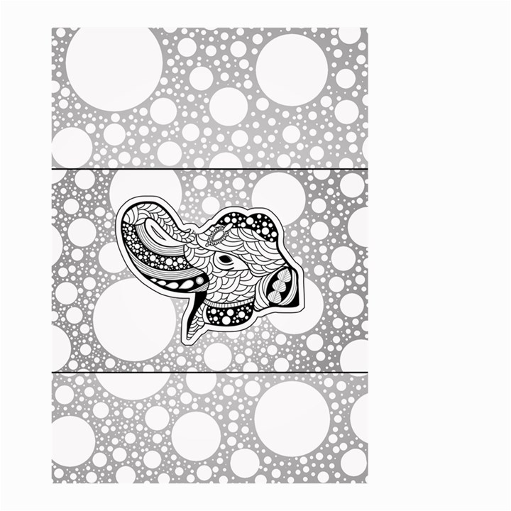 Elegant Mandala Elephant In Black And Wihte Small Garden Flag (Two Sides)