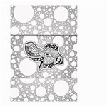 Elegant Mandala Elephant In Black And Wihte Small Garden Flag (Two Sides) Back