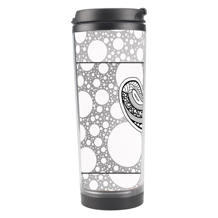 Elegant Mandala Elephant In Black And Wihte Travel Tumbler