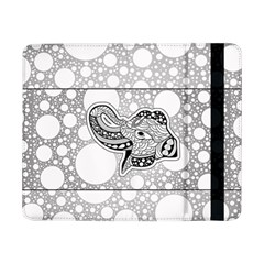 Elegant Mandala Elephant In Black And Wihte Samsung Galaxy Tab Pro 8 4  Flip Case by FantasyWorld7