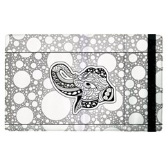Elegant Mandala Elephant In Black And Wihte Apple Ipad Mini 4 Flip Case